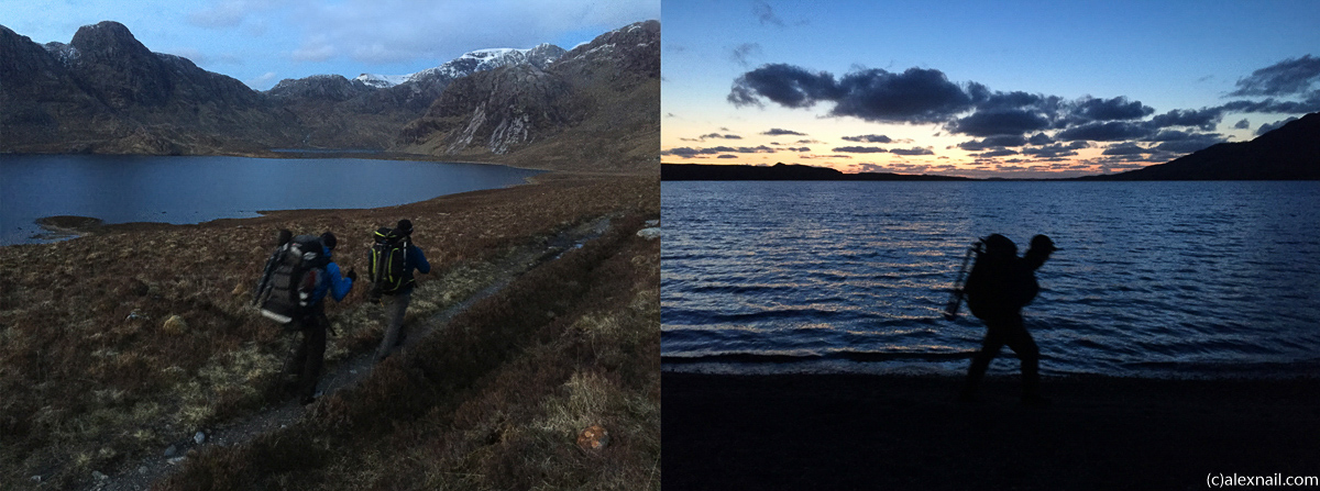 The last part of the approch to Carnmore along Fionn Loch