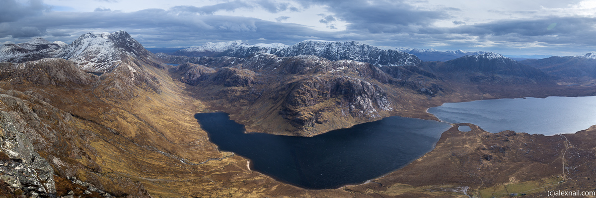 The view from Sgurr Na Laocainn - no doubt a rarely visited viewpoint, I have never seen photos from here