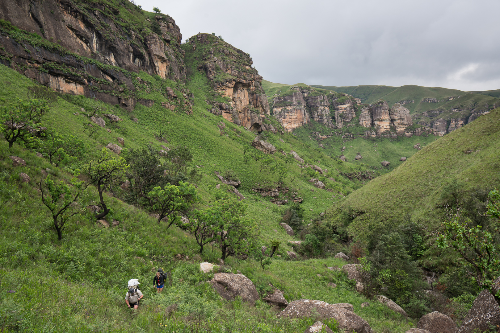 Making our way further up the valley. This is just before the turning to Marble Baths.