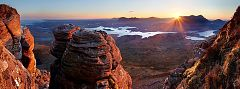 Sunrise from Stac Pollaidh with a view over Assynt