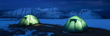 Photo of tent taken at A'Mhaighdean, Fisherfield, Scotland