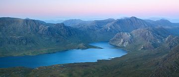 Twilight view of A' Mhaighdean and Ruadh Stac Mor