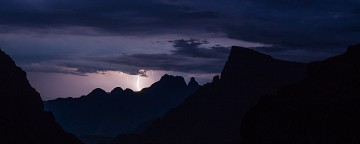 Lightning on the Drakensberg Escarpment.