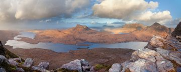 The view from the peak of Sgorr Tuath in Sutherland