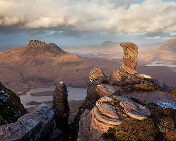 view over Assynt and Inverpolly from Sgorr Tuath