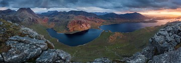 panoramic view from Sgurr na Laocainn