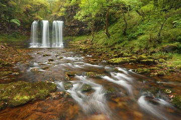 Photo of a Sgwd Yr Eira waterfall in the Brecon Beacons