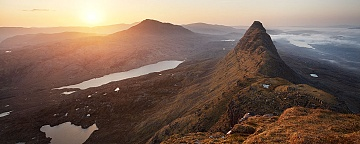 Sunrise from Suilven with Canisp and Meall Meadonach