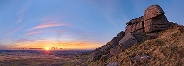 Sunset on Hare Tor, Dartmoor