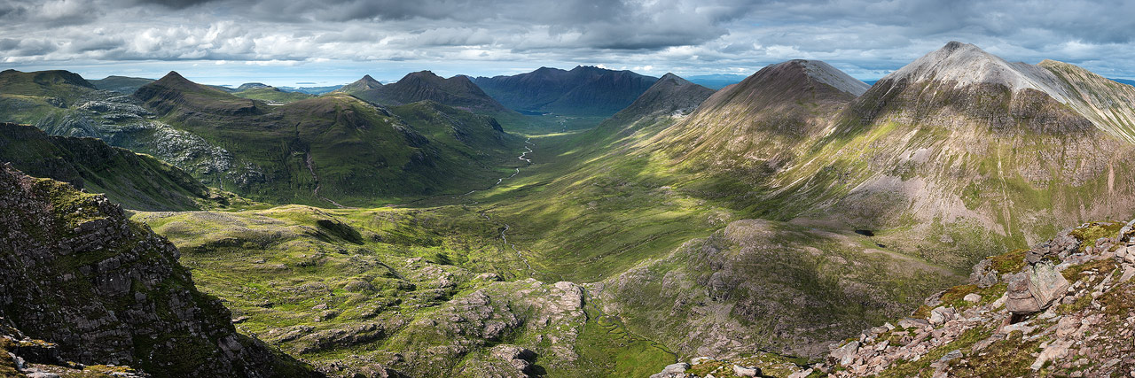The view from Beinn Tarsuinn - can't wait to shoot this in good light!